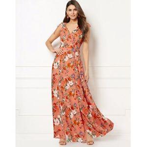 🆕 Eva Mendes - Allegra Floral Wrap Maxi Dress